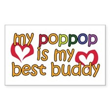 PopPop is My Best Buddy Rectangle Decal
