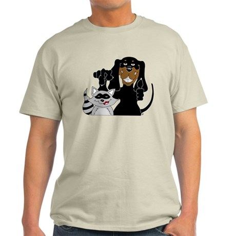 Coonhound and Raccoon Light T-Shirt