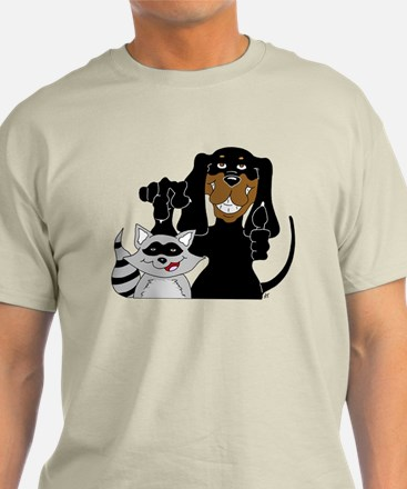 Coonhound and Raccoon T-Shirt