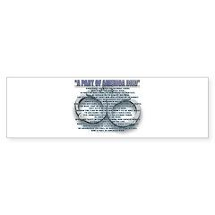A PART OF AMERICA DIED Bumper Bumper Sticker