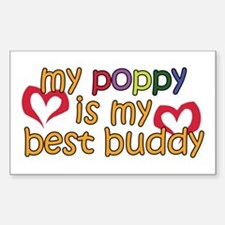 Poppy is My Best Buddy Rectangle Decal