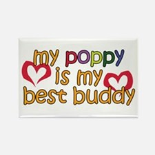 Poppy is My Best Buddy Rectangle Magnet