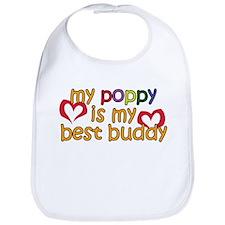 Poppy is My Best Buddy Bib