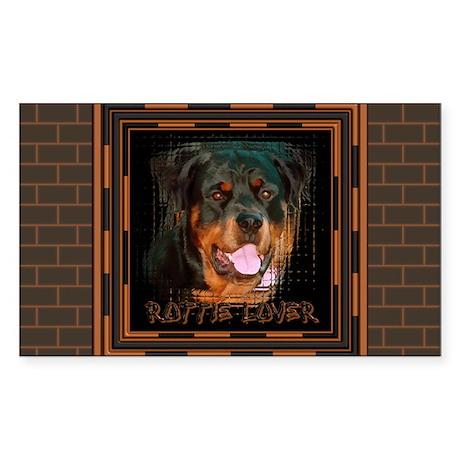 Rottweiler (Rottie) Lover Rectangle Sticker