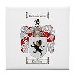 Phillips Family Crest Tile Coaster
