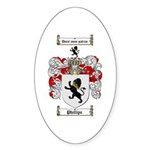 Phillips Family Crest Oval Sticker