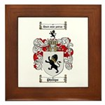 Phillips Family Crest Framed Tile