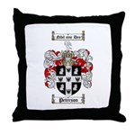 Peterson Family Crest Throw Pillow