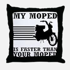My Moped Throw Pillow