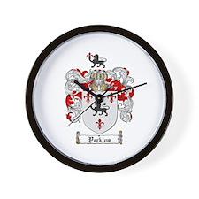 Perkins Family Crest Wall Clock