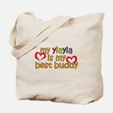 YiaYia is My Best Buddy Tote Bag