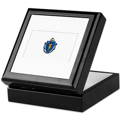Massachusetts Flag Keepsake Box