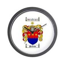 Pearson Family Crest Wall Clock