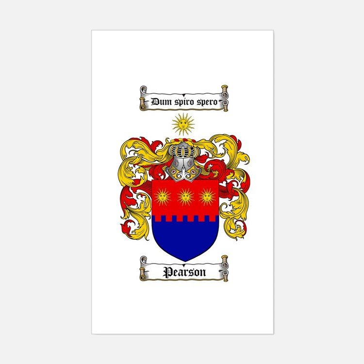 Pearson Family Crest Rectangle Decal