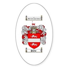 Payne Family Crest Oval Decal