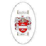 Payne Family Crest Oval Sticker