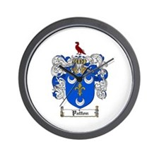 Patton Family Crest Wall Clock