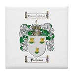 Patterson Family Crest Tile Coaster