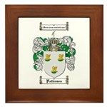Patterson Family Crest Framed Tile
