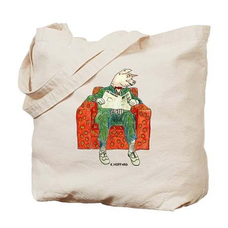 Pig Inquirer Tote Bag