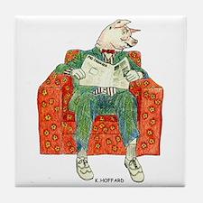 Pig Inquirer Tile Coaster