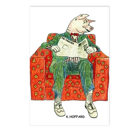 Pig Inquirer Postcards (Package of 8)