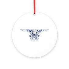 Blue American Eagle Keepsake (Round)