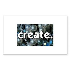 Beads - Create - Crafts Rectangle Decal