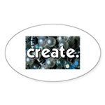Beads - Create - Crafts Oval Sticker