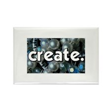 Beads - Create - Crafts Rectangle Magnet