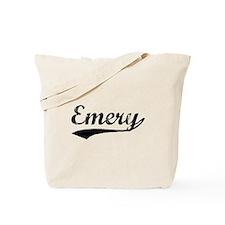 Vintage Emery (Black) Tote Bag