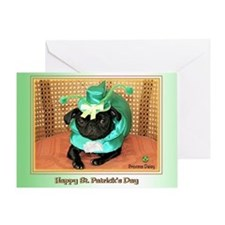 Blarney Pug Greeting Card
