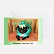 Blarney Pug Greeting Card