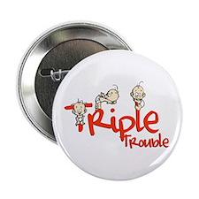 """Triple Trouble 2.25"""" Button"""