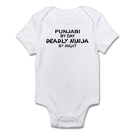 Punjabi Deadly Ninja by Night Infant Bodysuit