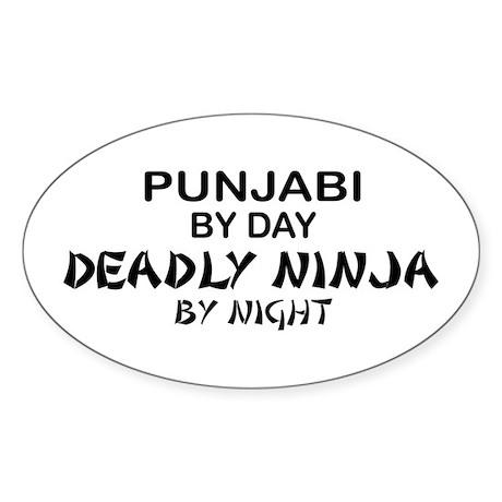 Punjabi Deadly Ninja by Night Oval Sticker