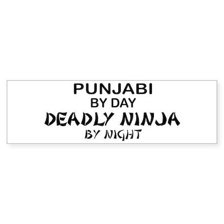 Punjabi Deadly Ninja by Night Bumper Sticker