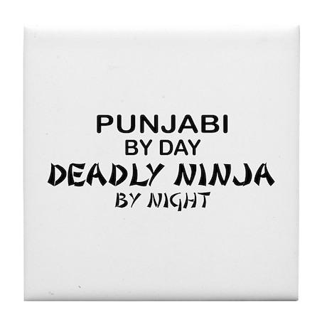 Punjabi Deadly Ninja by Night Tile Coaster