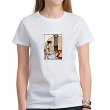 Woman Weaving at Loom - Greek Tee