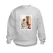 Woman Weaving at Loom - Greek Sweatshirt