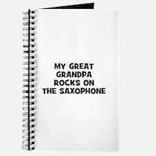 my great grandpa rocks on the Journal