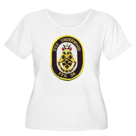 USS UNDERWOOD Women's Plus Size Scoop Neck T-Shirt