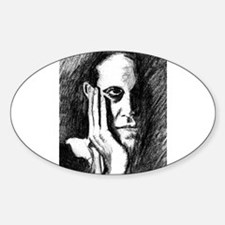 Pondering Man Oval Decal