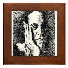 Pondering Man Framed Tile