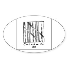Vintage Sewing Instructions Oval Decal