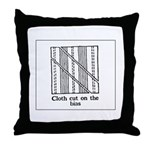 Vintage Sewing Instructions Throw Pillow