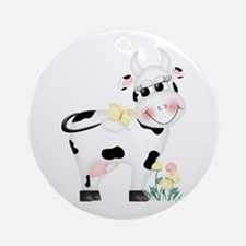 Cute Cow Keepsake (Round)