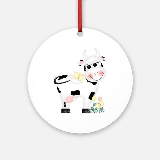 Cute Cow Keepsake (Round)