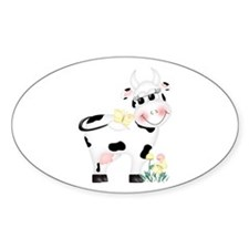Cute Cow Oval Decal