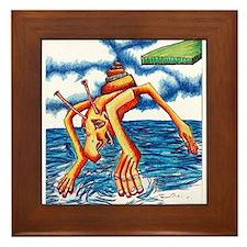 Monster Splash Framed Tile